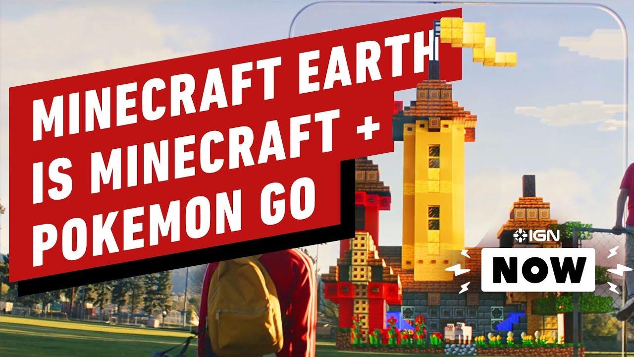Minecraft Earth ist Minecraft Pokemon Go - IGN Now + video