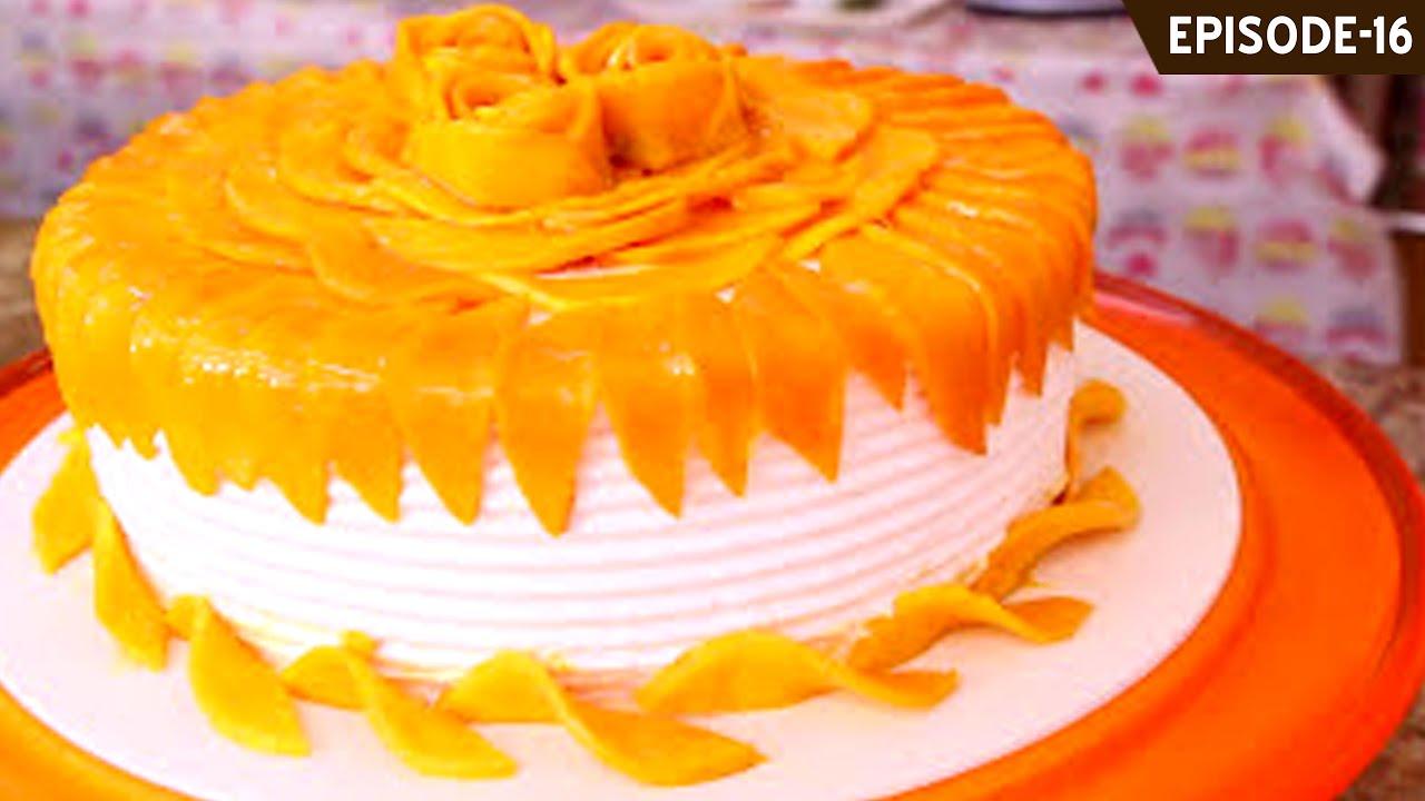 Learn how to make a beautiful eggless Mango Cake - Part 1 (mango sponge cake in this episode) & Learn how to make a beautiful eggless Mango Cake - Part 1 (mango ...