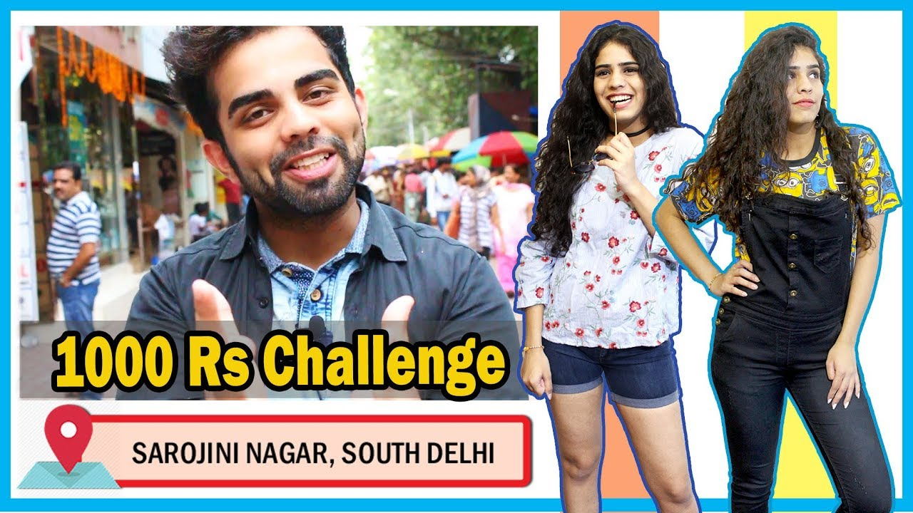 BROTHER BUYS SISTER'S OUTFITS at Sarojini Nagar | Shopping Challenge 2017 | The Rajat Code