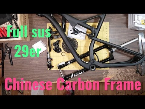 Ican Chinese Carbon 29er Full Suspension MTB unboxing