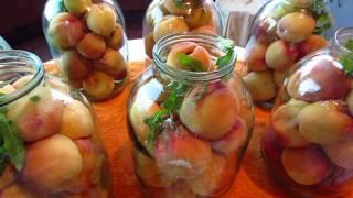 Персиковый компот с мятой !!! Заготовки на зиму