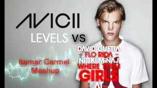 David Guetta Vs. Avicii - Where Them Girls At & Levels Mash Up