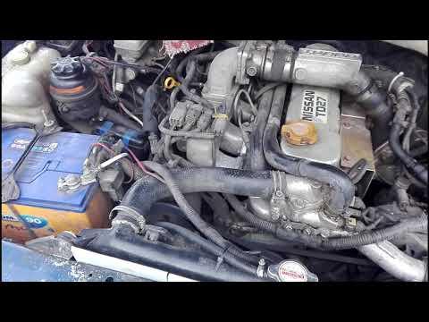 Nissan Mistral запуск на холодную двигателя тд 27т в -20 без подогрева