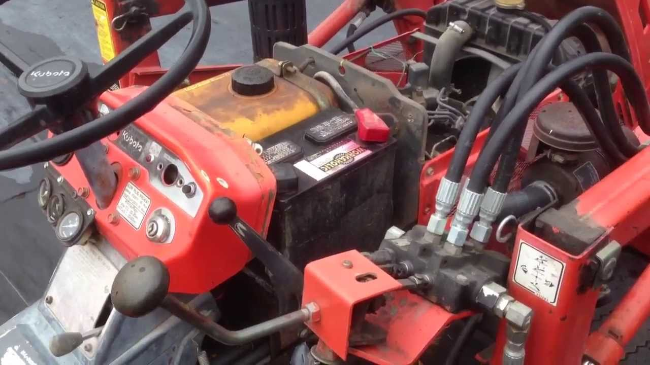 Kubota sel Tractor No Start Fixed - YouTube on