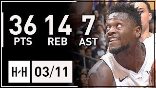 Julius Randle Career-HIGH Full Highlights Lakers vs Cavaliers (2018.03.11) - 36 Pts, 14 Reb, 7 Ast!