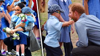 Little Boy Gets Hug from Meghan Markle After Pulling on Prince Harry's Beard