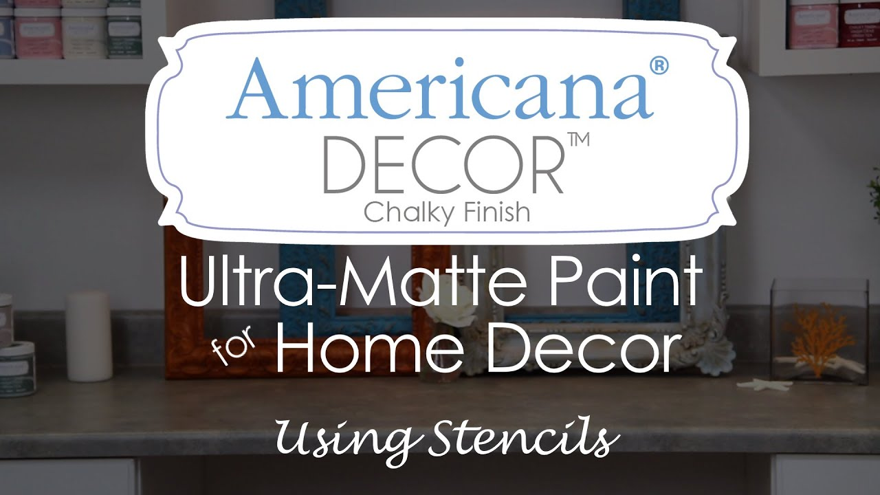 How To Use Stencils With Americana Decor Chalky Finish