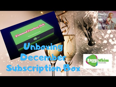 Unboxing My Easy Whim December Diamond Painting Club Box
