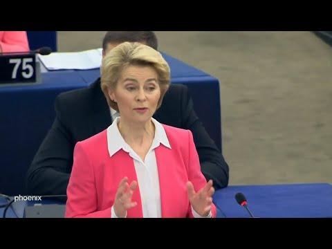 Neue EU-Kommission - Antrittsrede Ursula von der Leyen und anschließende  Debatte