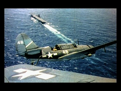 The Fighting Lady: World War 2 Aircraft Carrier Action (Restored color 1944)
