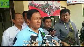 Rekontruksi Satreskrim Polres Kendal Dalam Kasus Pembunuhan Yang Mayatnya Di Buang Di Kalibodri.