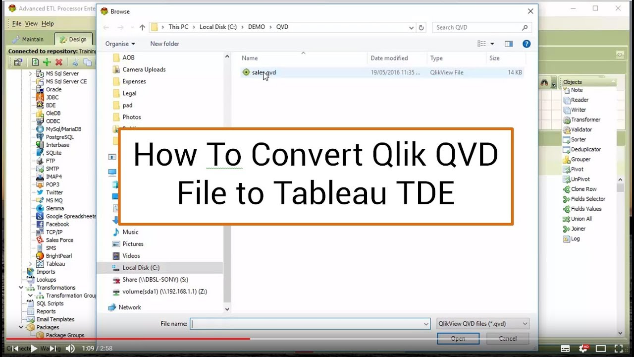37 Converting QVD file into TDE file
