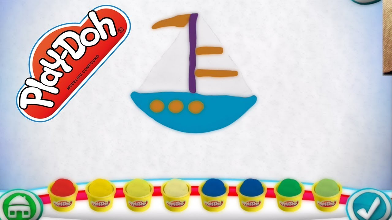 Play Doh Create ABC Alphabet Game Letter B - Gameplay with Gertit