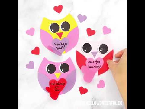 DIY Valentine Owl Card