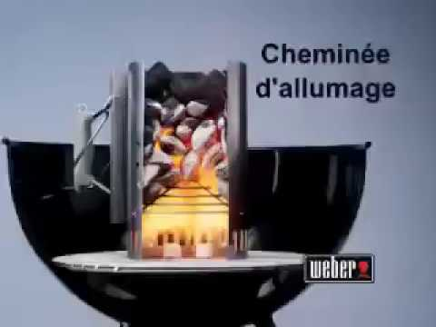 cheminee d 39 allumage weber raviday barbecue youtube. Black Bedroom Furniture Sets. Home Design Ideas