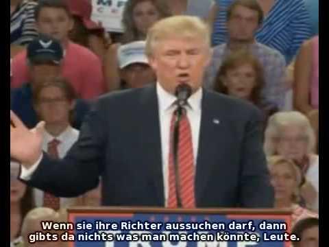 Donald Trump Scherz Hillary Cliontons Ermordung dt  Untertitel