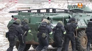 Учения ОДКБ. Атака на блокпост и захват школы