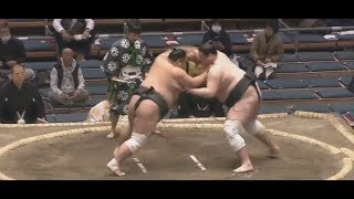 Terunofuji 照ノ富士v Amakaze, Sumo Day 4, Haru basho Osaka (Jonidan...