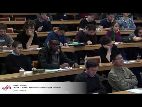 Dimitri Zvonkine : Lecture 3: Hurwitz numbers and the topolo