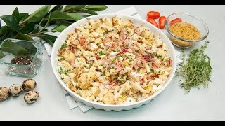 Тёплый салат из цветной капусты | Ужин? Не проблема!