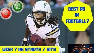 2018 Fantasy Football Lineup Advice  - Week 7 RB's Start/Sit Episode
