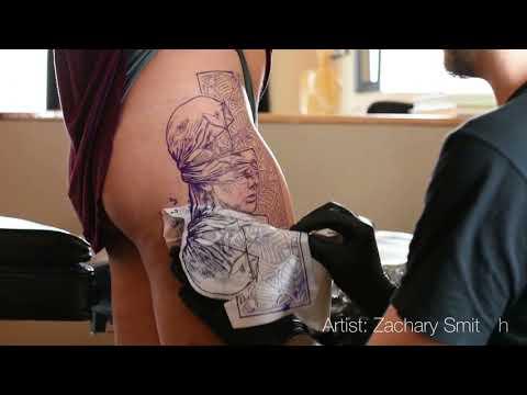 Tattoo TimeLapse - Profet Ink Tattoo Studio - Artist: Zachary Smith - Piece: Abstract Female statue