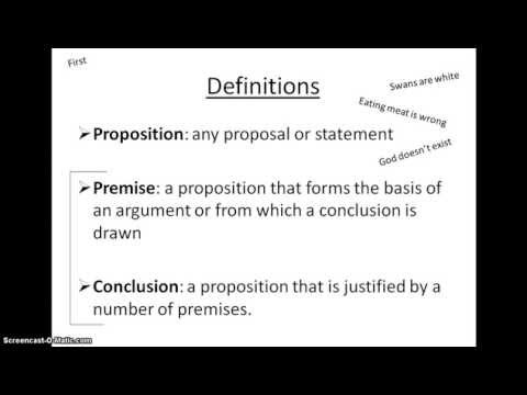 Propositions, premises and conclusions