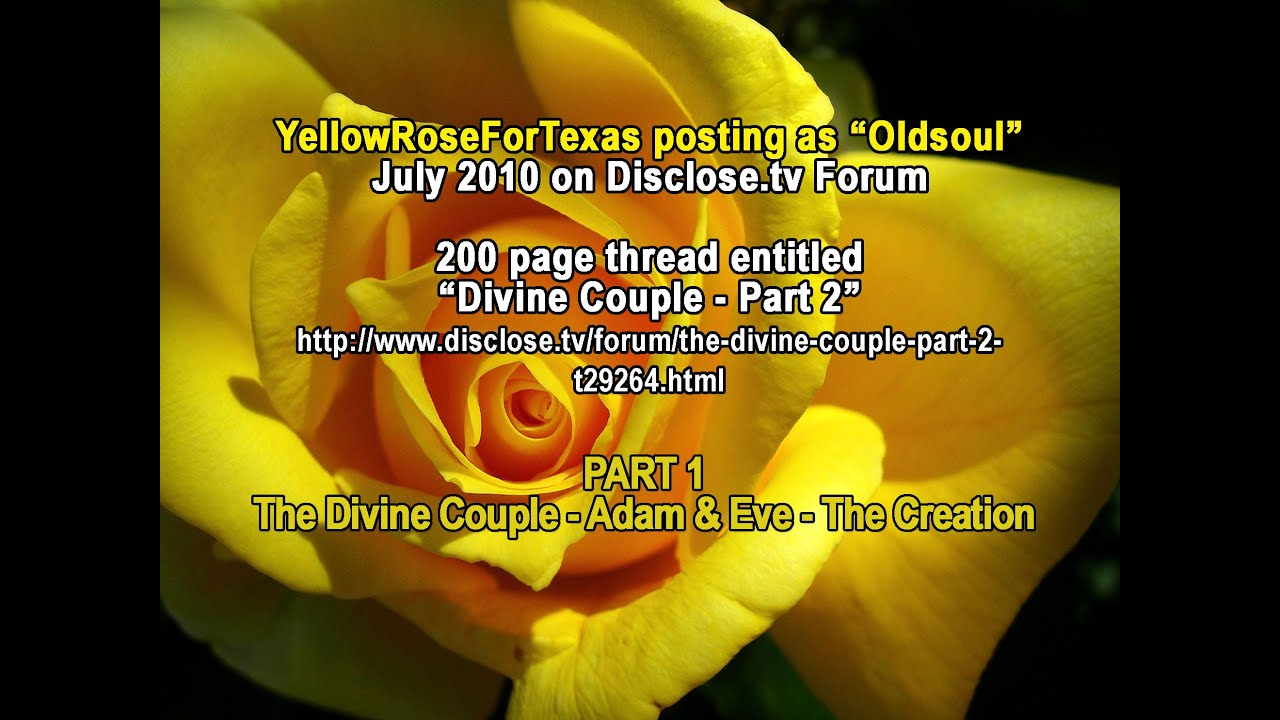 Yellow Rose for Texas - Old Soul - The Divine Couple and the Creation