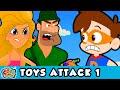 TOYS ATTACK! | Drew VS Toys | A Drew Pendous Superhero Story 🚀| Cool School Stories