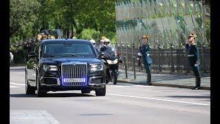 Путин приехал на инаугурацию на новом автомобиле из проекта ''Aurus''