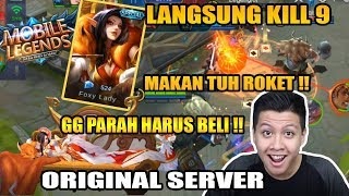 NEW SKIN AURORA SPECIAL FOXY LANGSUNG KILL 9  - Mobile Legend Bang Bang