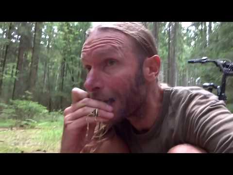 Barfuß Overnighter mit Fahrrad, Rohkost und massig Pfifferlingen... Bushcraft, vegan