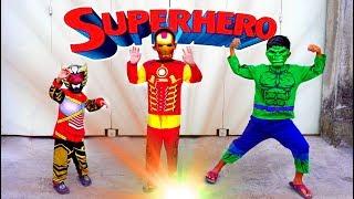 Superhero Beraksi & Unboxing Baju Kostum Superhero + Topeng, Ada Hulk, Iron Man & Bima X
