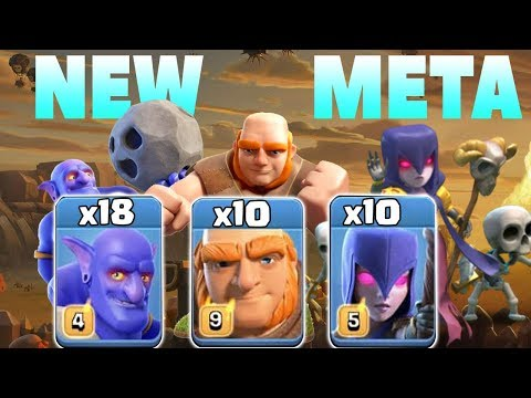 NEW META 2019! 18 Bowler +10 Giant +10 Witch TH12 SUPER STRONG WAR ATTACK STRATEGY | Clash of Clans