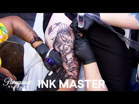 'Tag Team Tattooing' Elimination Official Sneak Peek   Ink Master: Grudge Match (Season 11)