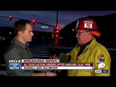 All evacuation orders lifted for Lilac Fire