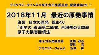 最近の原発事情(2018年11月)日本の原発総まくり/東海第二の大問題/原子力賠償法  2018年11月20日収録