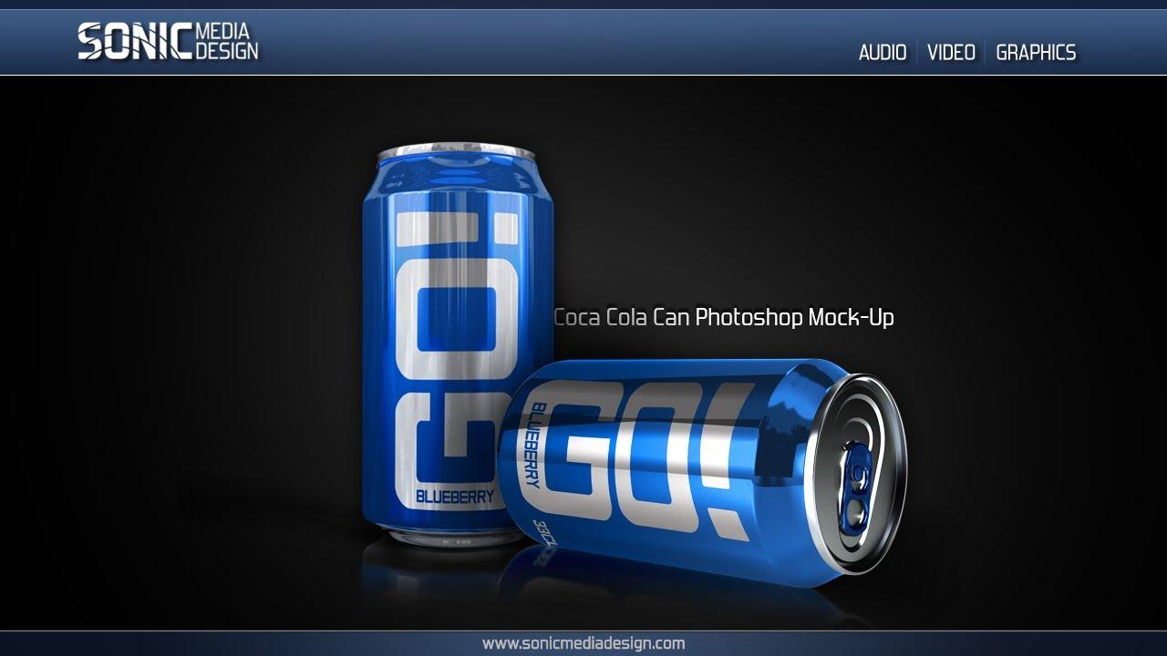 photorealistic soda can mockup for photoshop youtube