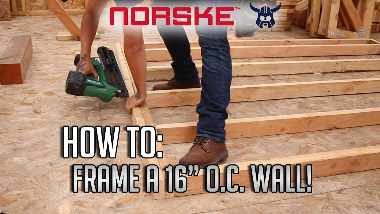 """Download How To: Frame a 16"""" O.C. Wall! (Most Common Wood Framing Method)"""