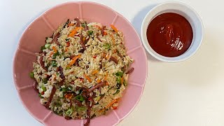 Sausage Fried Rice  Kids friendly meal  Easy dinner Lunch recipe