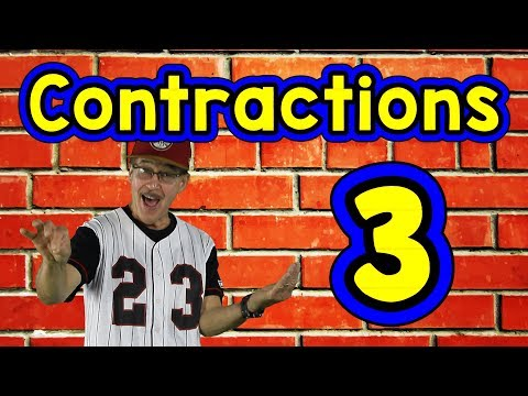 Contractions 3 | English Song for Kids | Reading & Writing Skills | Grammar | Jack Hartmann