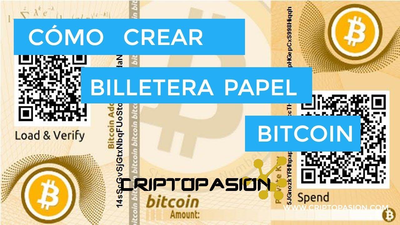 Como abrir billetera de papel bitcoin