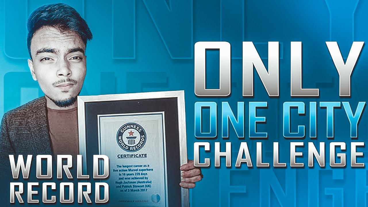 WORLD RECORD - ONLY ONE CITY CHALLENGE - PUBG MOBILE
