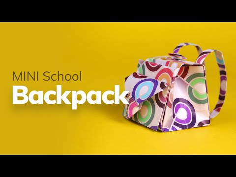 How to make Mini School Bag / Backpack - 92Crafts