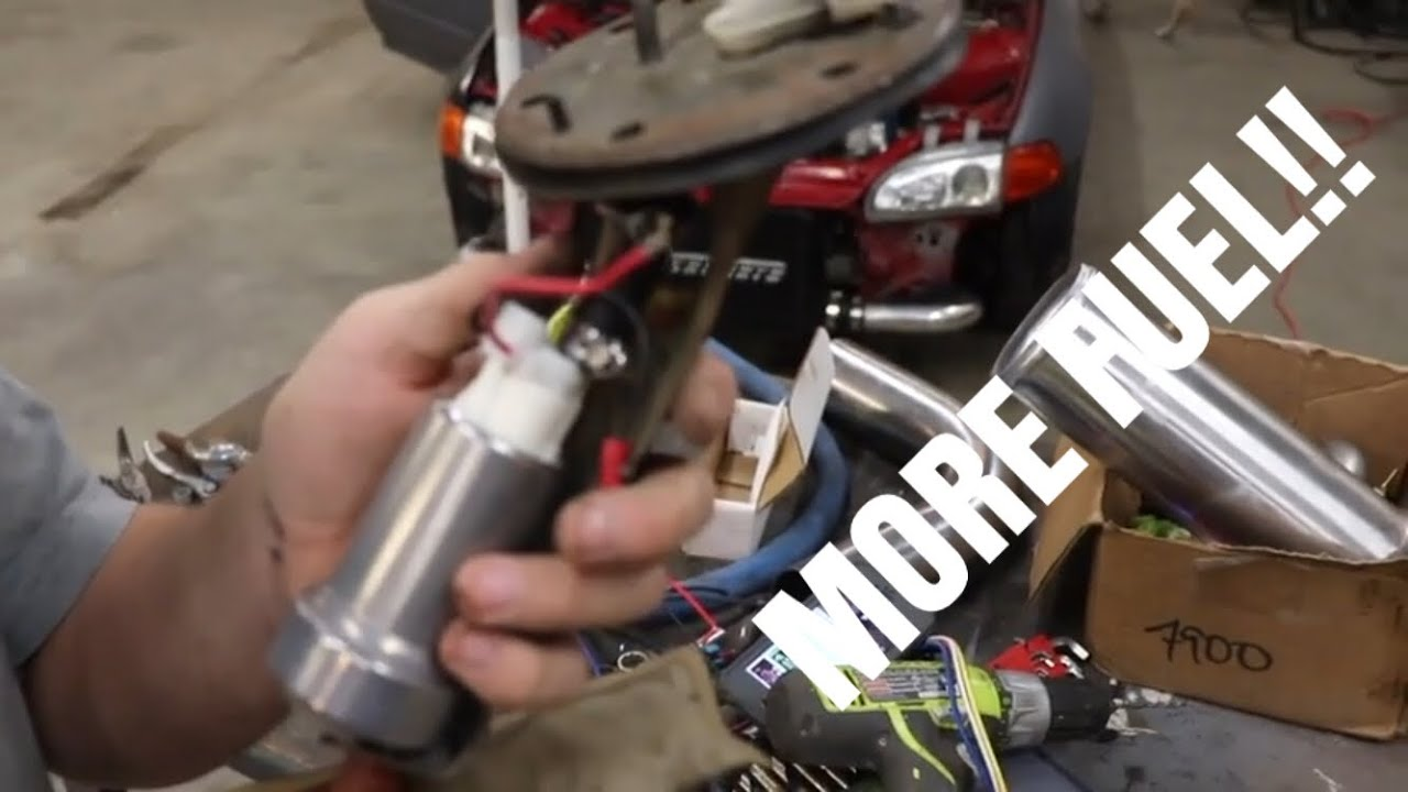 honda civic gets walbro 450 fuel pump installed and wiring with relay
