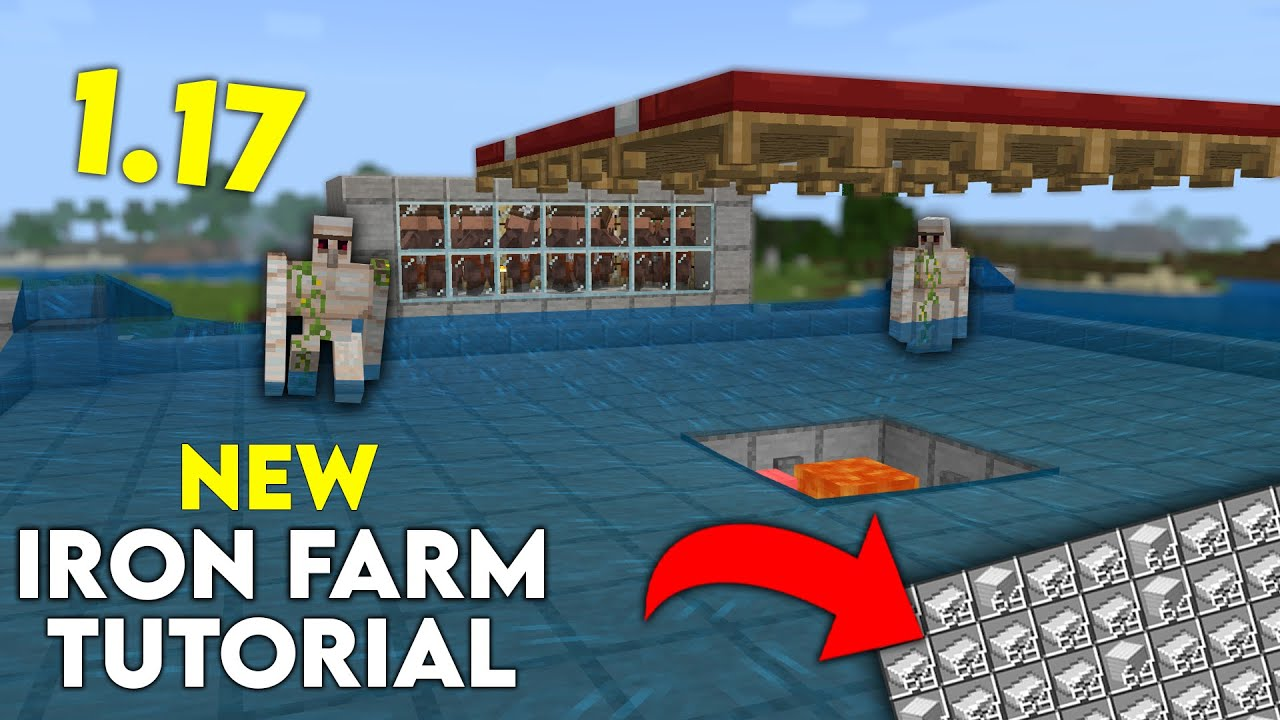 How to build an iron farm in Minecraft Bedrock Edition