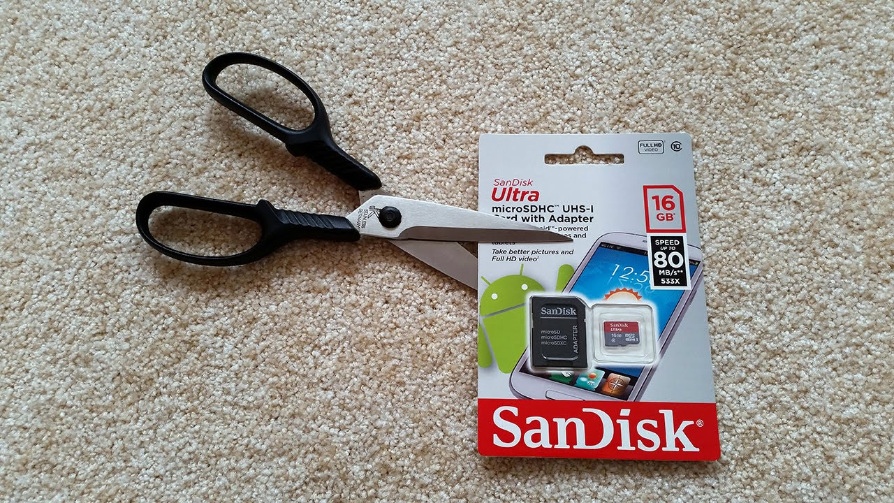 SanDisk Ultra MicroSDHC 16GB Card Unboxing And Speed Test UP TO 80MB