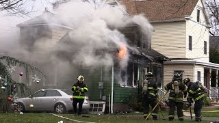Clifton NJ Fire Department 2nd Alarm Fire 105 Pershing Rd Jan 1st 2016 New Years Day