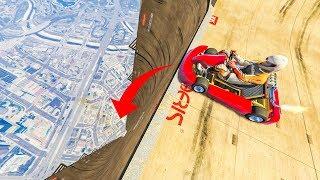 INSANE GOKART VS MEGA STUNT! - (GTA 5 Stunts & Fails)