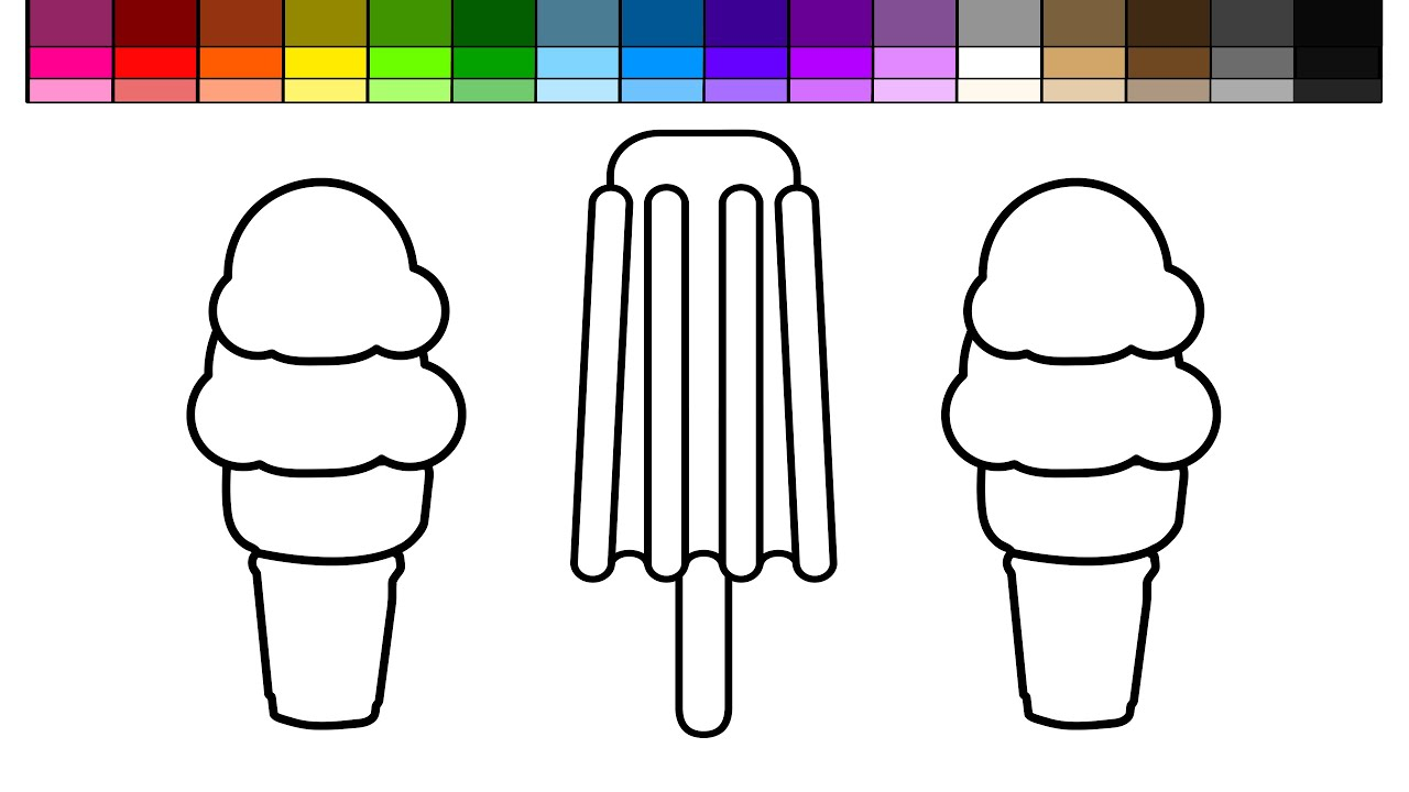learn colors for kids and color ice cream and popsicle rocket